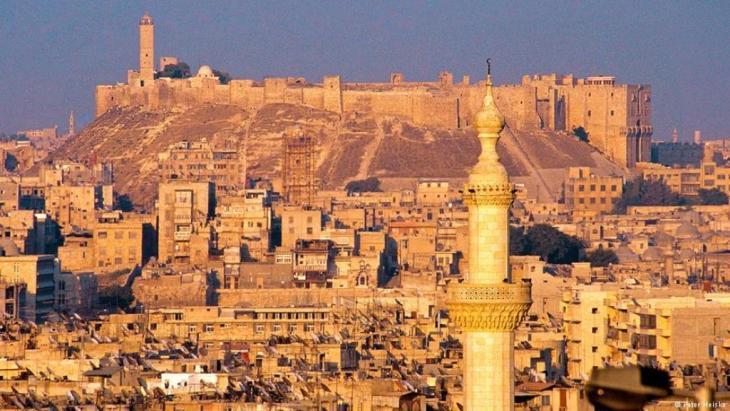 Blick über die damalige Altstadt von Aleppo, fotografiert 2001 Foto: Peter Heiske