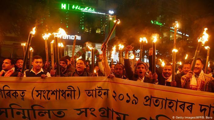 Proteste gegen neues Einbürgerungsrecht in Indien; Foto: AFP/Getty Images