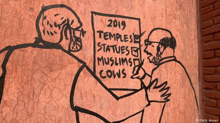 Karikaturen gegen neues Einbürgerungsrecht; Foto: DW