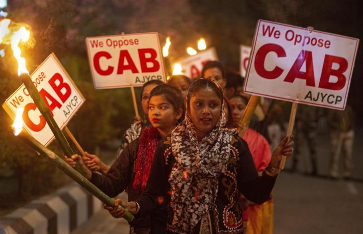 Proteste in Indien gegen das geänderte Staatsbürgerschaftsgesetz; Foto: AP