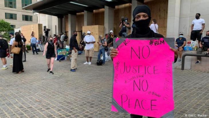 USA Proteste zum Tod von George Floyd (DW/C. Bleiker)
