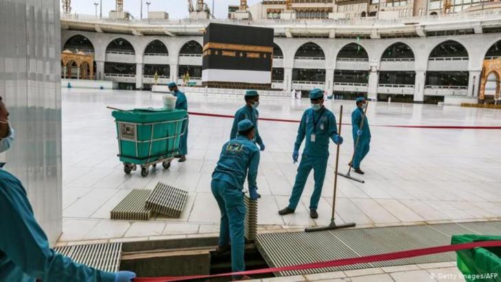 Vorbereitungen in der Großen Moschee von Mekka | Corona & Hadsch | Pilgerfahrt (Getty Images/AFP)