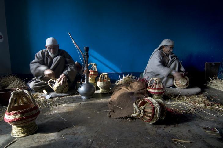 Dieses traditionelle Heizverfahren wird von Kangdi-Machern aufrechterhalten. Foto: Sugato Mukherjee