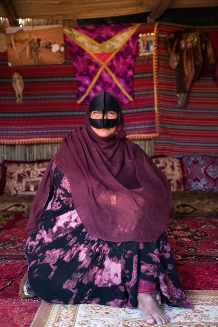 Beduinenfrau Salma. Foto: Pascal Mannaerts