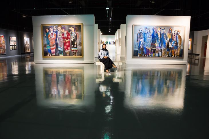 Ausstellung der Arbeiten von Alia Al Farsi. Foto: Pascal Mannaerts