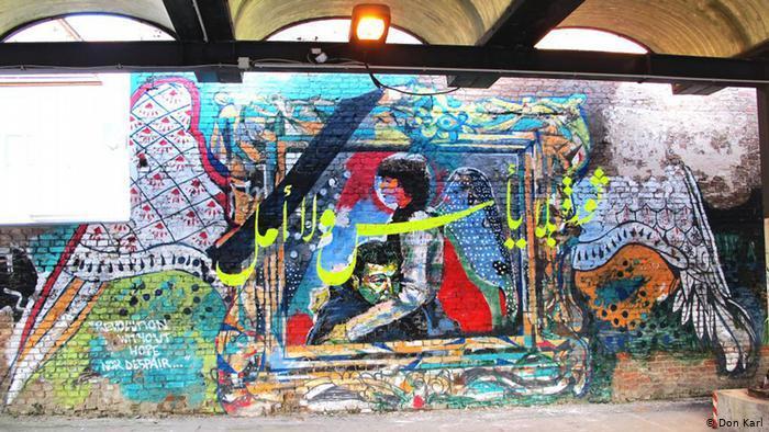 Ein Wandgemälde zeigt die ägyptische Dichterin und Aktivistin Shaimaa al Sabbagh. Foto: Don Karl
