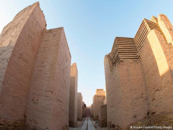 Mauern der archäologische Stätte Babylon; Foto: Hussein Faleh/AFP/Getty Images