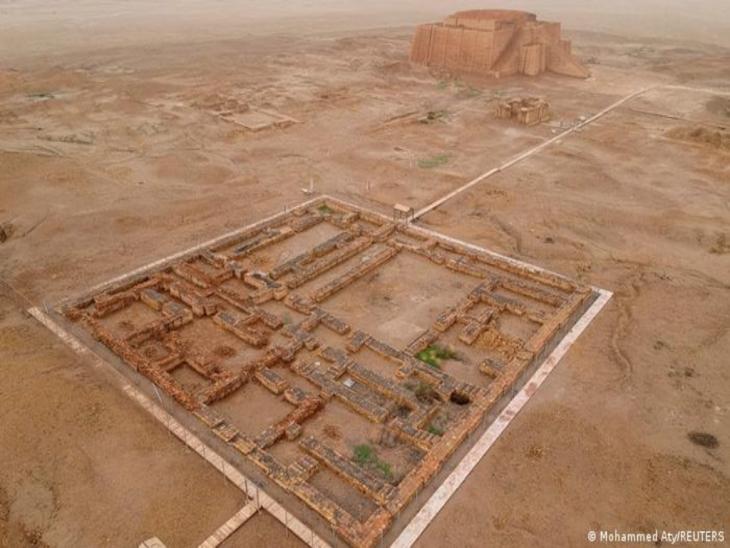 Archäologische Stätte der Stadt Ur aus der Vogelperspektive; Foto: Mohammed Aty/REUTERS