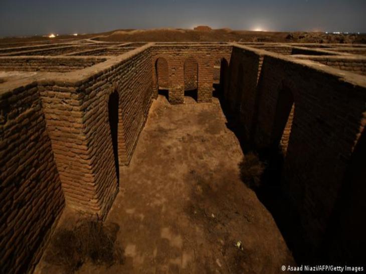 Archäologische Stätte der Stadt Ur, Blick auf einen Raum mit Fenstern; Foto: Asaad Niazi/AFP/Getty Images