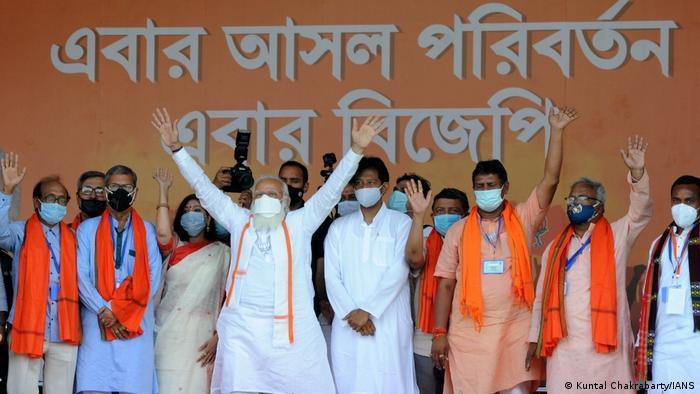 Indien Bildergalerie Coronavirus   Kalkutta Parlamentswahlen, Narendra Modi