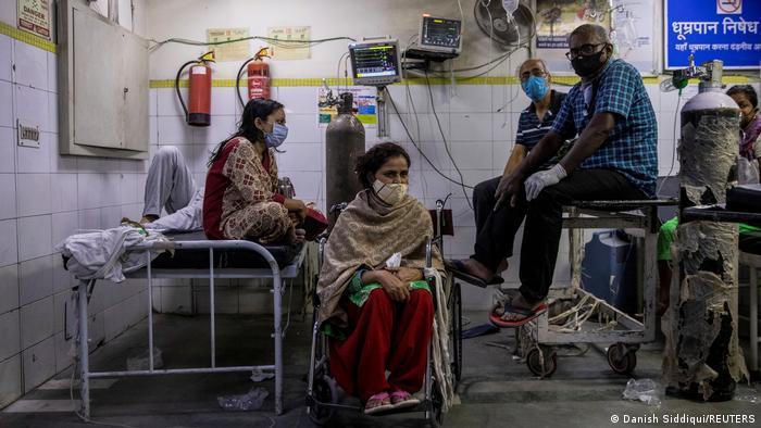 Indien Bildergalerie Coronavirus   New Delhi, Krankenhaus