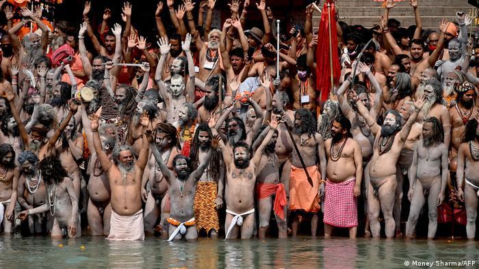 Indien Bildergalerie Coronavirus   Haridwar, Kumbh Mela Pilgerfest