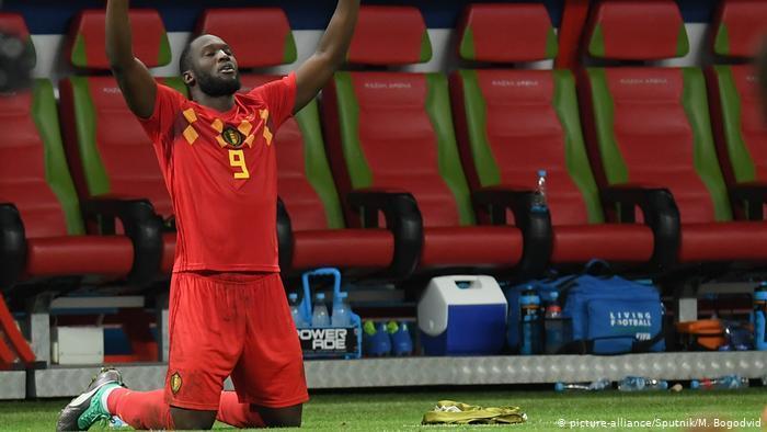 Fußball WM 2018 Brasilien - Belgien   Romelu Lukaku