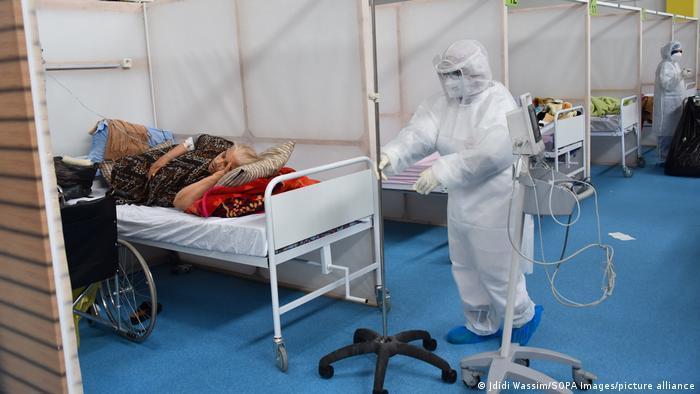 Tunesien Covid-19-Station in einem Krankenhaus in Tunis Foto: Jdidi Wassim/SOPA Images/picture-alliance
