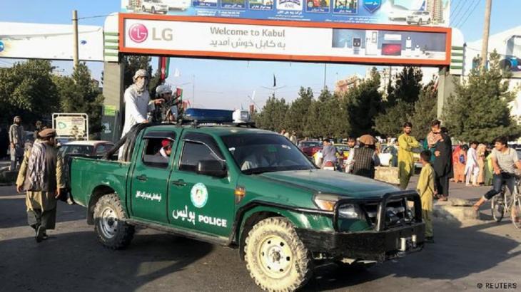 Polizeifahrzeug in den Händen der Taliban. (Foto: Reuters)