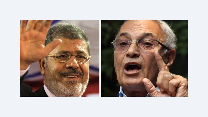 Präsidentschaftskandidaten Mursi (links) und Shafik; Foto: dpa