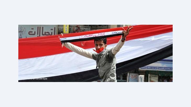 Jugendlicher Demonstrant im Jemen; Foto: dpa