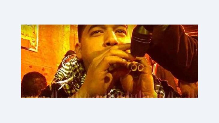 Ägyptischer Musiker im Film Tracks of Cairo; Foto: © Movimiento