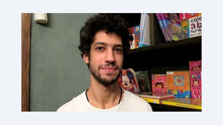 Der ägyptische Künstler Ali Abdel Mohsen; Foto: Claudia Mende