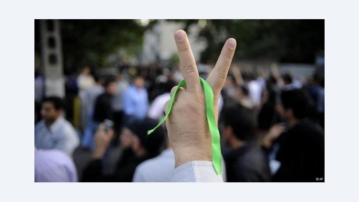 Anhänger der Grünen Bewegung in Teheran im Jahr 2009; Foto: AP