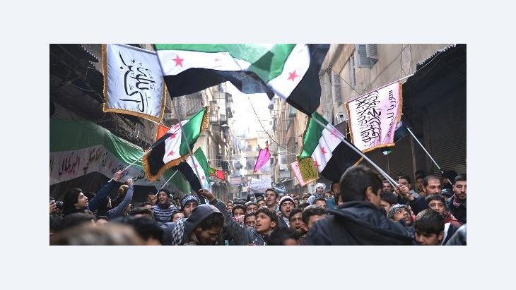 Anti-Regime Proteste in Aleppo, 8.Februar 2013; Foto: AFP