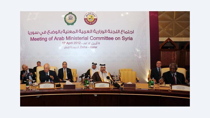 Treffen der Arabischen Liga in Doha zur Lage in Syrien; Foto: Osama Faisal/AP/dapd