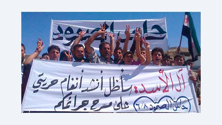 Demonstration von Assad-Gegnern im Norden Syriens; Foto: Reuters