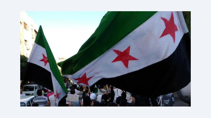 Demonstration gegen das Assad-Regime in Damaskus; Foto: Reuters
