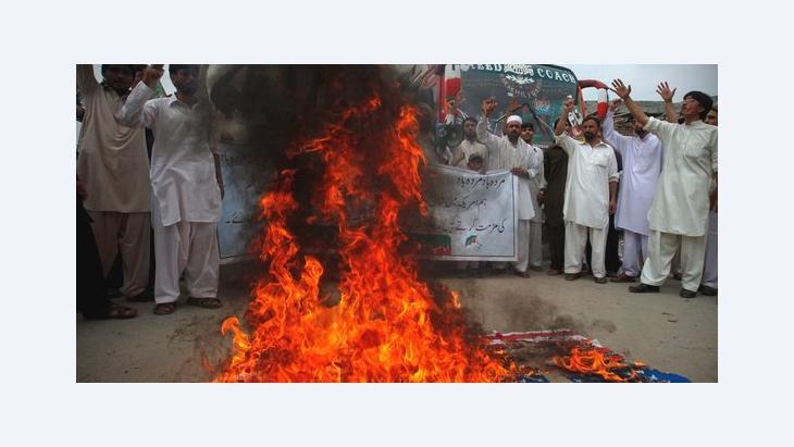 Demonstration gegen islamfeindlichen Film in Peschawar; Foto: Reuters
