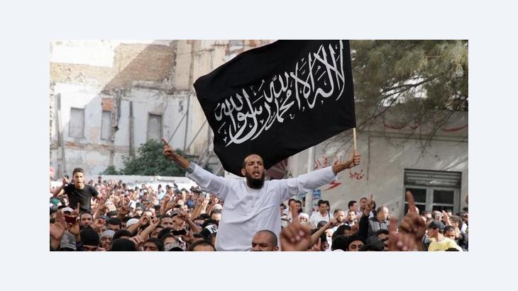 Salafisten demonstrieren in Tunis; Foto: dapd