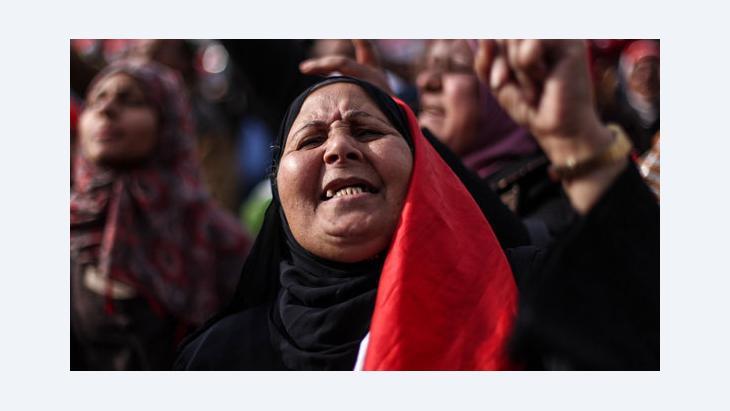 Ägyptische Demonstrantin in Kairo während einer Protestaktion gegen die Muslimbrüder (Foto: picture alliance/landov)