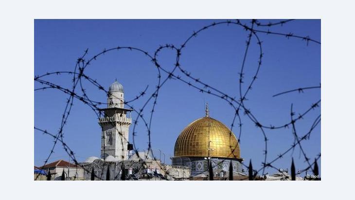 Felsendom und Omar-Moschee auf dem Tempelberg in Jerusalem; Foto: dapd
