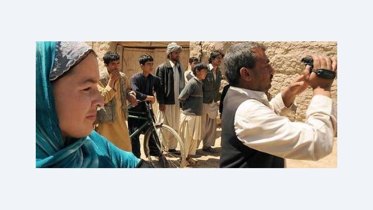 Die afghanische Crew beim Filmdreh in Kunduz; Foto: Martin Gerner