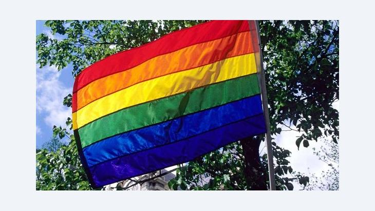 Regenbogenflagge; Foto: dpa