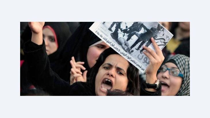 Demonstration von Frauen gegen Übergriffe der Armee gegen Frauen und Männergewalt am 20. Dezember auf dem Tahrirplatz in Kairo; Foto: AP