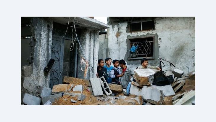 Ruinen in Gaza-Stadt nach einem israelischen Luftangriffen; Foto: Reuters