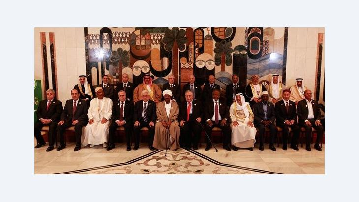Gruppenbild der Gipfelteilnehmer in Bagdad; Foto: Foto:Karim Kadim/AP