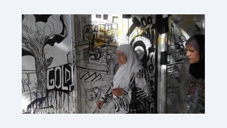 Graffiti-Kunst in Tunesien; Foto: Bettina Kolb/DW