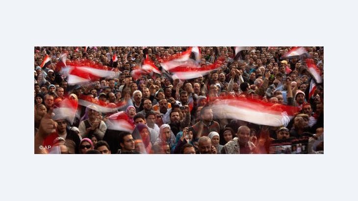 Kairo, Tahrir Platz im Februar 2011; Foto: AP