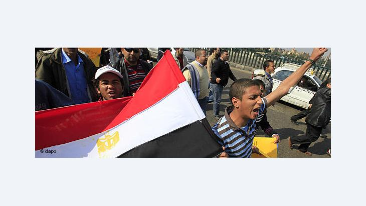 Ägypter in Kairo demonstrieren gegen Mubarak; Foto: dapd