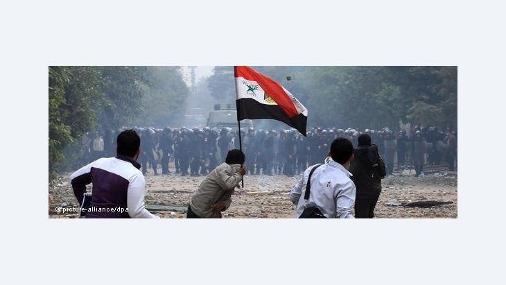 Gewaltsame Ausschreitungen am Tahrir-Platz in Kairo; Foto: dpa