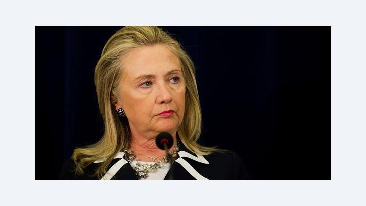 US-Außenministerin Clinton; Foto: dapd