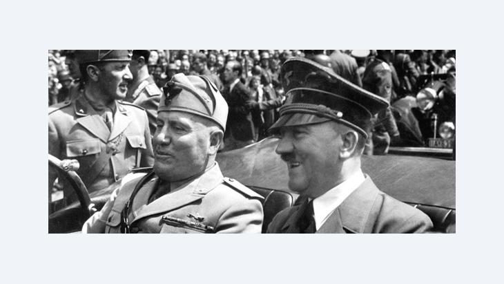 Hitler and Mussolini im Jahr 1940; Foto Quelle: Wikipedia