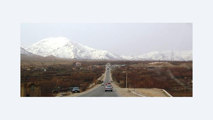 Ebene nördlich der afghanischen Haupstadt Kabul; Foto: Marian Brehmer