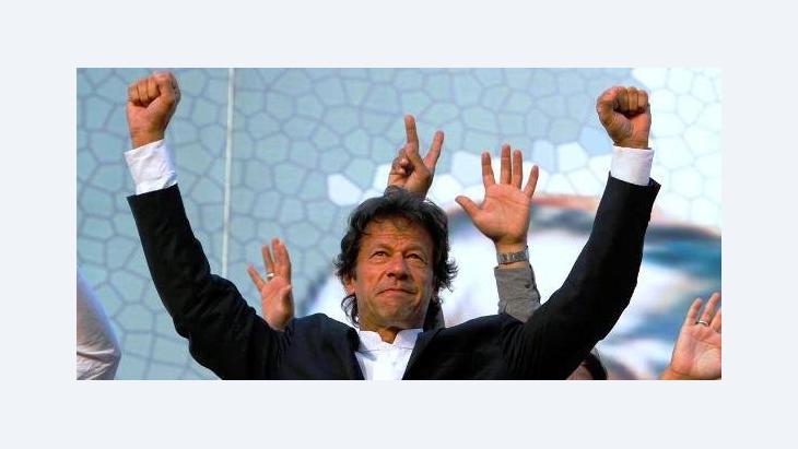 Ex-Kricketstar Imran Khan; Foto: AP
