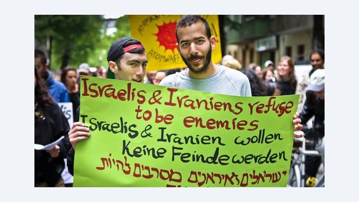 Demonstranten des Iranian-Israeli Circle, Foto: Jakob Huber