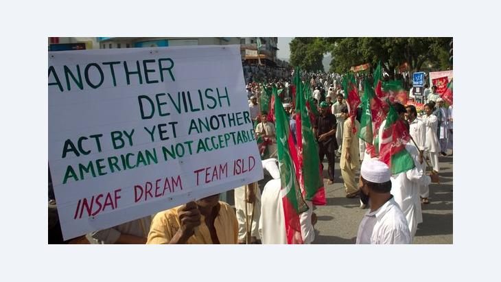 Proteste gegen Mohammed-Schmähvideo in Islamabad; Foto: AP