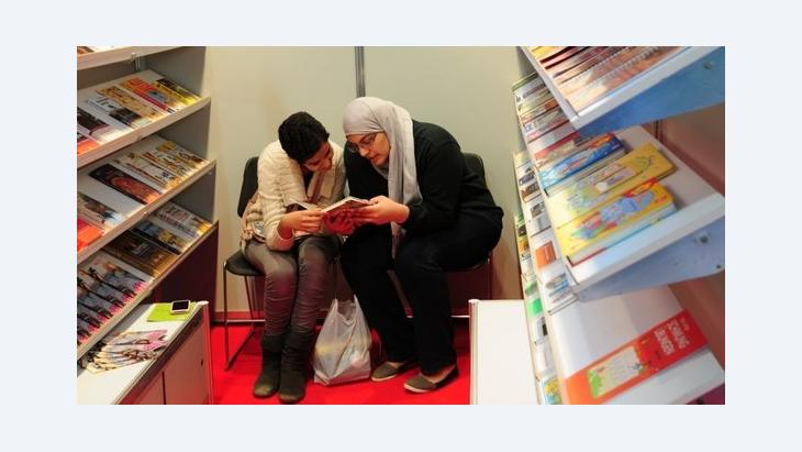 Junge Besucherinnen auf der Buchmesse in Kairo; Foto: Amira El Ahl