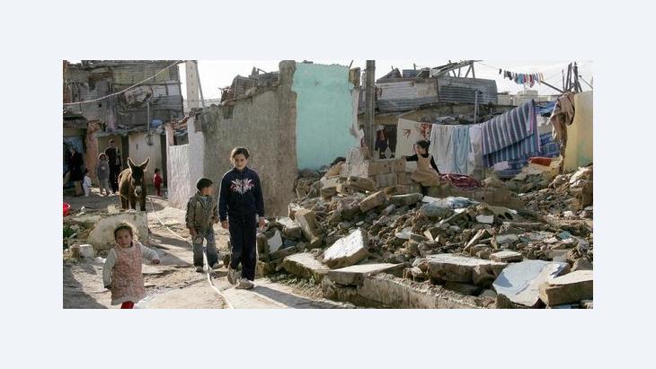 Kinder im Slum von Sidi Moumen; Foto: dapd