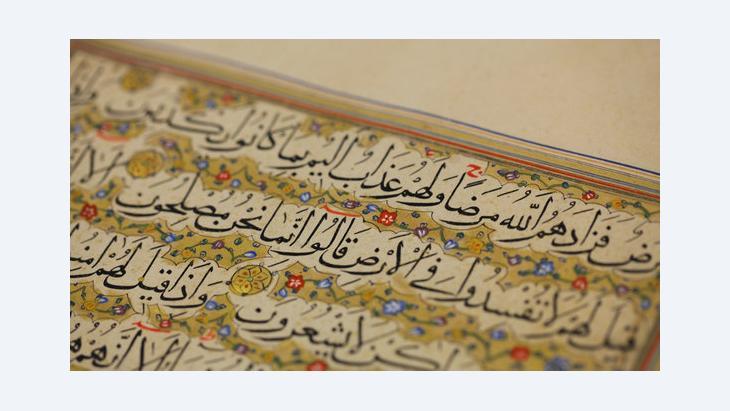 Der Koran; Foto: DW/Axel Warnstedt
